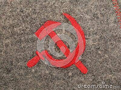 Sickle and hammer soviet symbolic