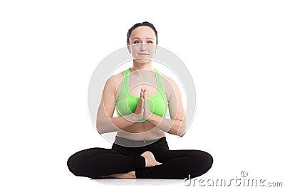 Siddhasana Yoga Pose Stock Photo Image 52838559