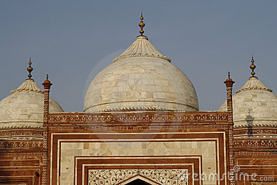 The side building in the Taj Mahal, India