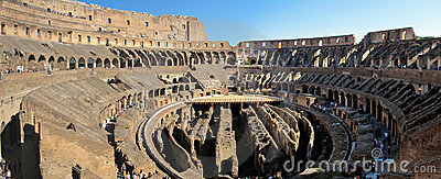 In side the Coloseum