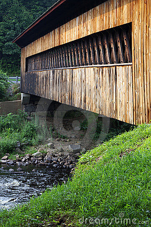 Side of covered bridge