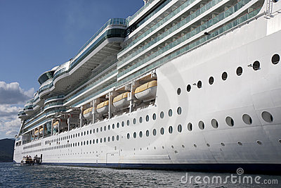 Side of Cruise Ship from Water