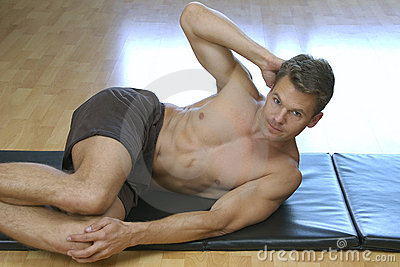 Side crunch sit up