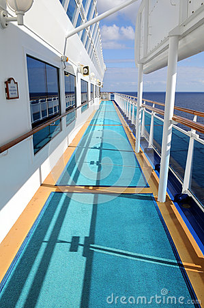 Side Deck of Cruise Ship