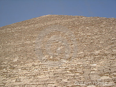 Side of Egyptian pyramid
