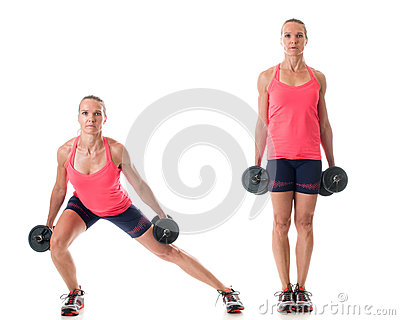 Side Lunge Stock Photo