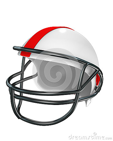 Football helmet (side view)