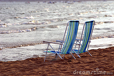 Side by Side Beach Chairs