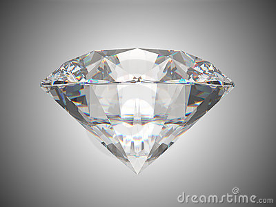 Side view of brilliant cut diamond