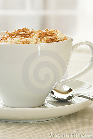 Side view of Cappuccino