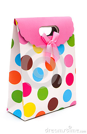 Side view colorful gift box