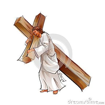 Side View Of Jesus Chr...