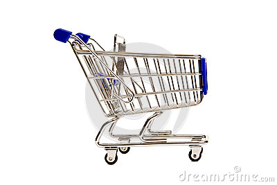 Side View of a Miniature Shopping Cart XXXL