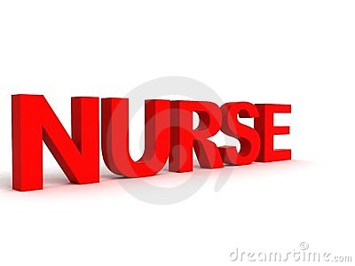 Side view of nurse word