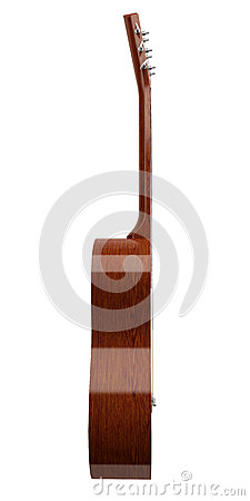 Free Side View Of Acoustic Guitar Isolated On White Stock Photo - 31694340