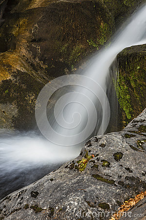 Free Side View Of An Upper Cascade At Kent Falls State Park. Stock Image - 62062671