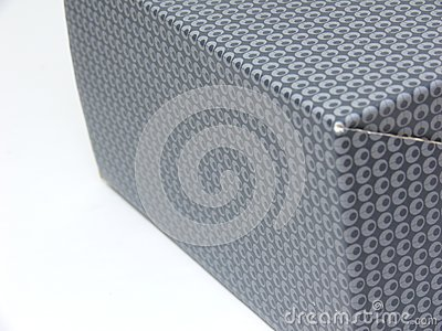 Side view of a patterned box (middle in focus)
