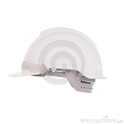 Side  view of safety helmet cap isolated white
