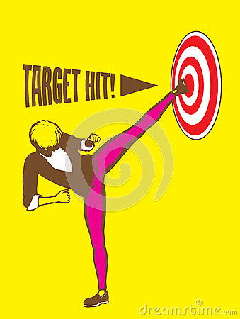 Sidekick Target Hit Goal Illustration