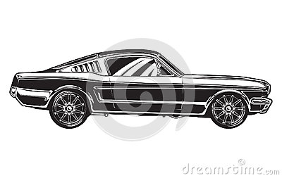 Sideview of a Muscle Car