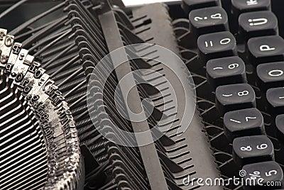 Sideview of old typewriter