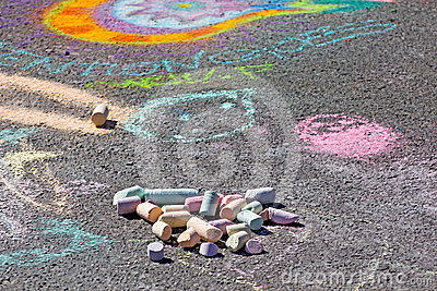 Sidewalk Chalk and Art