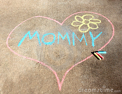 Sidewalk Chalk Heart for Mom