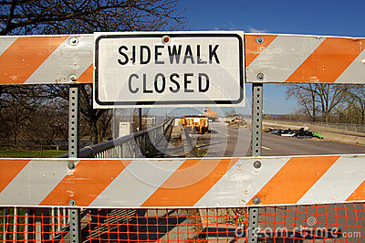Sidewalk Closed for Bridge Repairs