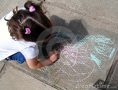 Sidewalk drawing