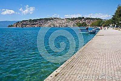 Sidewalk by Lake Ohrid