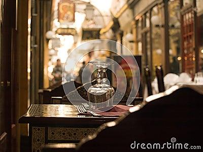 Sidewalk restaurant in Paris