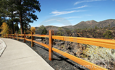 A Sidewalk at Sunset Crater