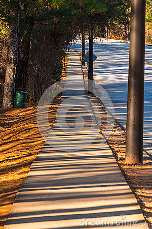 Free Sidewalk With Long Shadows In Stone Mountain Park, USA Royalty Free Stock Photography - 93155917