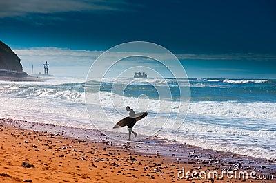Sidi ifni surfer Editorial Photo