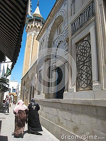 Sidi Youssef mosque. Tunis. Tunisia Editorial Stock Photo