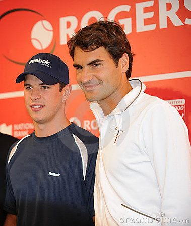 Sidney Crosby & Federer at Rogers Cup 2010 (13a) Editorial Photography