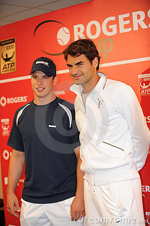 Sidney Crosby & Federer at Rogers Cup 2010 (6) Editorial Image