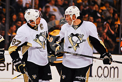 Sidney Crosby and Pascal Dupuis Pitts. Penguins Editorial Photography