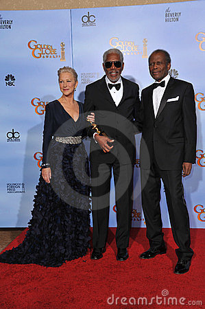 Sidney Poitier, Morgan Freeman, Helen Mirren Editorial Image