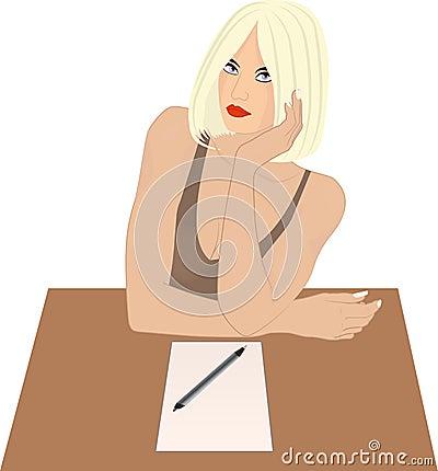 Siedząca kobieta