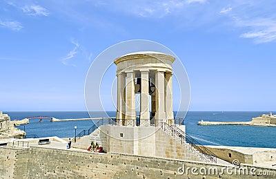 Siege Bell War Memorial in Valletta - Malta