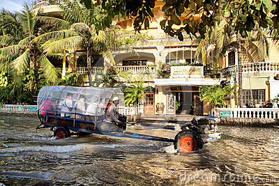 Siem Reap flooding Editorial Stock Image