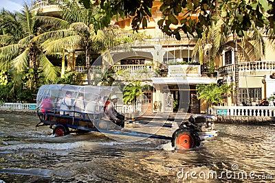 Siem Reap flooding Editorial Stock Image