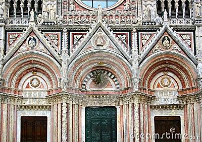 Siena, cathedral facade