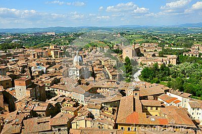 Siena city panorama, Italy