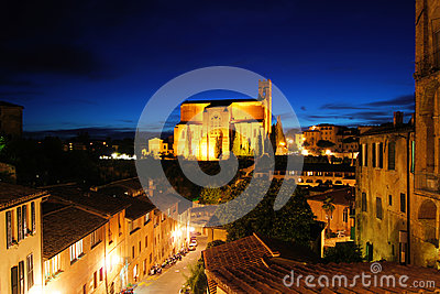 Siena night view
