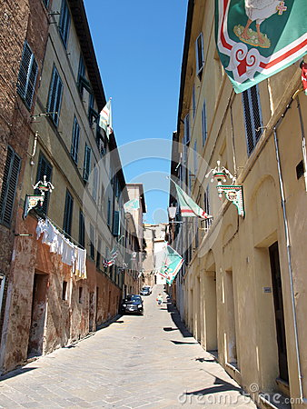 Siena before the Palio, Italy Editorial Image