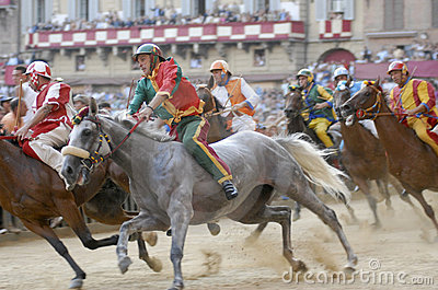 Siena s palio horse race Editorial Photography