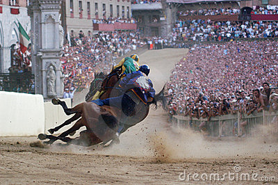 Siena s palio horse race Editorial Image