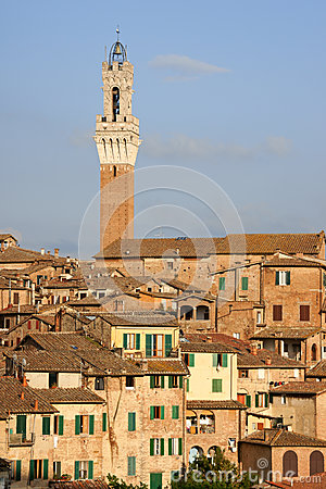 Siena in the sunset light